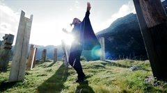 meditation lifestyle. recreational pursuit background. spiritual ceremony - stock footage