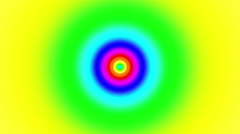Concentric oncoming abstract symbol, soft rainbow - optical, visual illusion Stock Footage