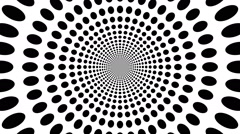Concentric oncoming abstract symbol, circles - optical, visual illusion - stock footage