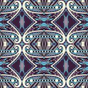 Seamless geometry vintage pattern, ethnic style ornamental backg Stock Illustration