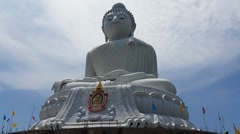 Phuket's Big Buddha - Buddhist Religious Landmark - stock footage