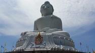 Stock Video Footage of Phuket's Big Buddha - Buddhist Religious Landmark