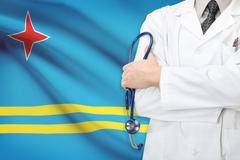 concept of national healthcare system - aruba - stock photo