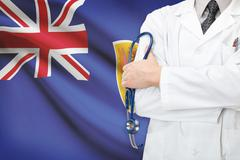concept of national healthcare system - turks and caicos islands - stock photo