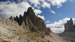 Time lapse people clouds dolomite alps paternkofel 11544 Stock Footage