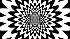 Concentric oncoming abstract symbol, star - optical, visual illusion - stock footage