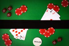 Poker background with playing cards Kuvituskuvat