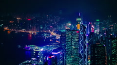 Hong Kong's futuristic skyline Stock Footage