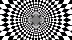 Concentric oncoming abstract symbol, rhomb - optical, visual illusion Stock Footage