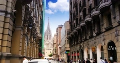 4K Barcelona Cathedral Establishing Shot Stock Footage