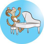 Pianist Stock Illustration