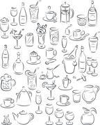 Drinks Stock Illustration