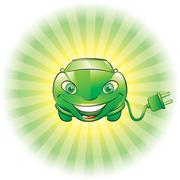 Electric car Stock Illustration