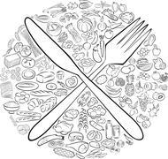 foods - stock illustration
