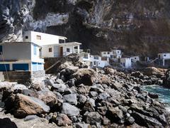 Spain, Canary Islands, La Palma, Tijarafe, Poris de Candelaria at Camino del Stock Photos