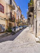 Italy, Sicily, Province of Palermo, Monreale, Old town, Alleyway Stock Photos