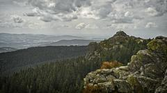 Germany, Bavarian Forest, view from Grosser Arber - stock photo