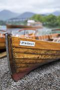 United Kingdom, England, Cumbria, Lake District, Derwentwater, rowing boat on Stock Photos