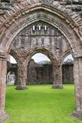United Kingdom, Scotland, Dumfries and Galloway, Sweetheart Abbey - stock photo
