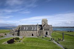 UK, Scotland, Argyll and Bute, Iona, Iona Abbey - stock photo
