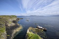 UK, Scotland, Argyll and Bute, view from rock island Staffa Stock Photos