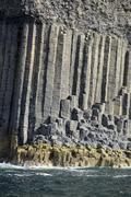 UK, Scotland, Argyll and Bute, basalt columns on Staffa island - stock photo