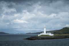 UK, Scotland, Argyll and Bute, Iona, lighthouse on island Lismore - stock photo