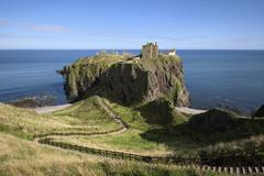 United Kingdom, England, Scotland, Aberdeenshire, Stonehaven, Dunnottar Castle Stock Photos