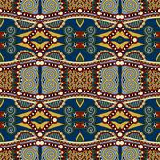 seamless geometry vintage pattern, ethnic style ornamental backg - stock illustration