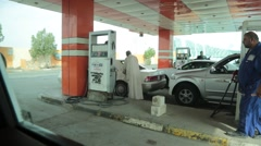 Scene of Iraqi Petrol (Gas) Station Worker  Stock Footage