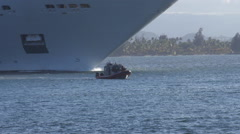 US Coast Guard machine gun armed escort patrol boat 2 Stock Footage