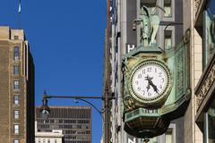 USA, Illinois, Chicago, clock at Jewelers' Building Stock Photos