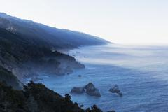 USA, California, Big Sur, Pacific Coast, National Scenic Byway Stock Photos