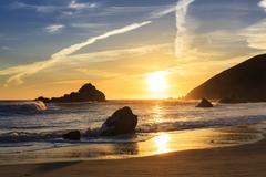 USA, California, Pacific Coast, National Scenic Byway, Big Sur, Pfeiffer Big Sur Stock Photos