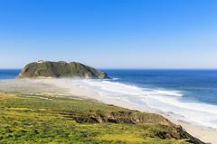 USA, California, Big Sur, Pacific Coast, National Scenic Byway, Point Sur State Stock Photos
