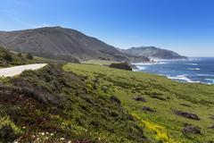 USA, California, Pacific Coast, National Scenic Byway, Big Sur, California State Stock Photos
