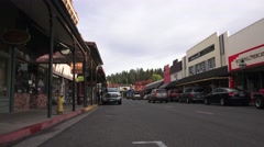 Grass Valley, Calif. gold mining town shops - stock footage