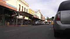 Grass Valley, Calif. gold mining town - stock footage