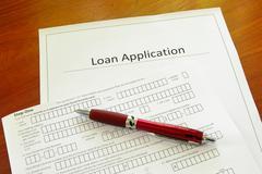 Blank loan application form Stock Photos