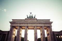 Stock Photo of Germany, Berlin, Berlin-Mitte, Brandenburg Gate in the evening light