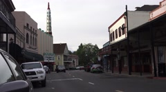 Grass Valley, Calif. gold mining town, movie house - stock footage