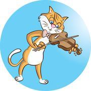 Fiddler Stock Illustration