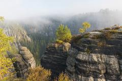 Stock Photo of Germany, Saxony, Saxon Switzerland, National Park, Bastei rock formation
