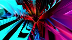 Alien Colorful Tunnel - stock footage