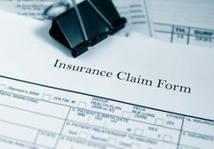insurance claim - stock photo