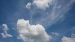 Timelapse of Moving Cloud Under Blue Sky in Daylight Stock Footage