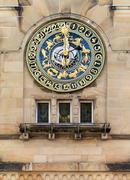 Astronomical clock in Schramberg - stock photo