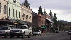 Grass Valley, a small gold mining town - stock footage