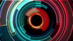 Digital circle, Stream, vj animation 7 Stock Footage