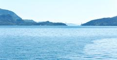 fjord summer hazy view (boknafjord, norway) - stock photo